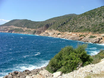 Lycian coast between today's Kalkan and Kaş