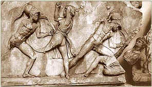 Battle Scene Relief on the Nereid Monument, British Museum