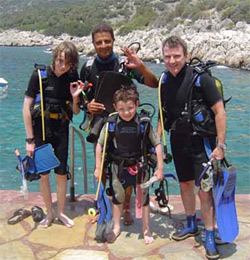 Altan and diving friends, Kalkan Dive Centre