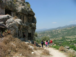 Lycian tombs on the acropolis hill