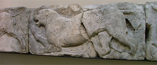 Leopard relief from Xanthos