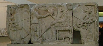 Relief from the Harpy Tomb, Xanthos